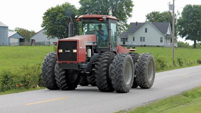 tractor on highway