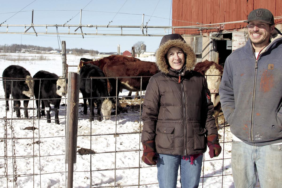 Merrie Schamberger and Justin Duell in winter