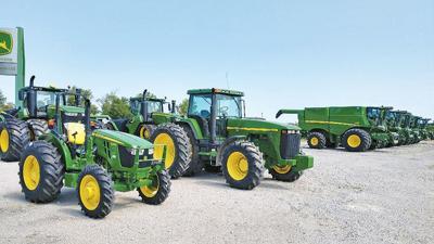 John Deere tractor lot