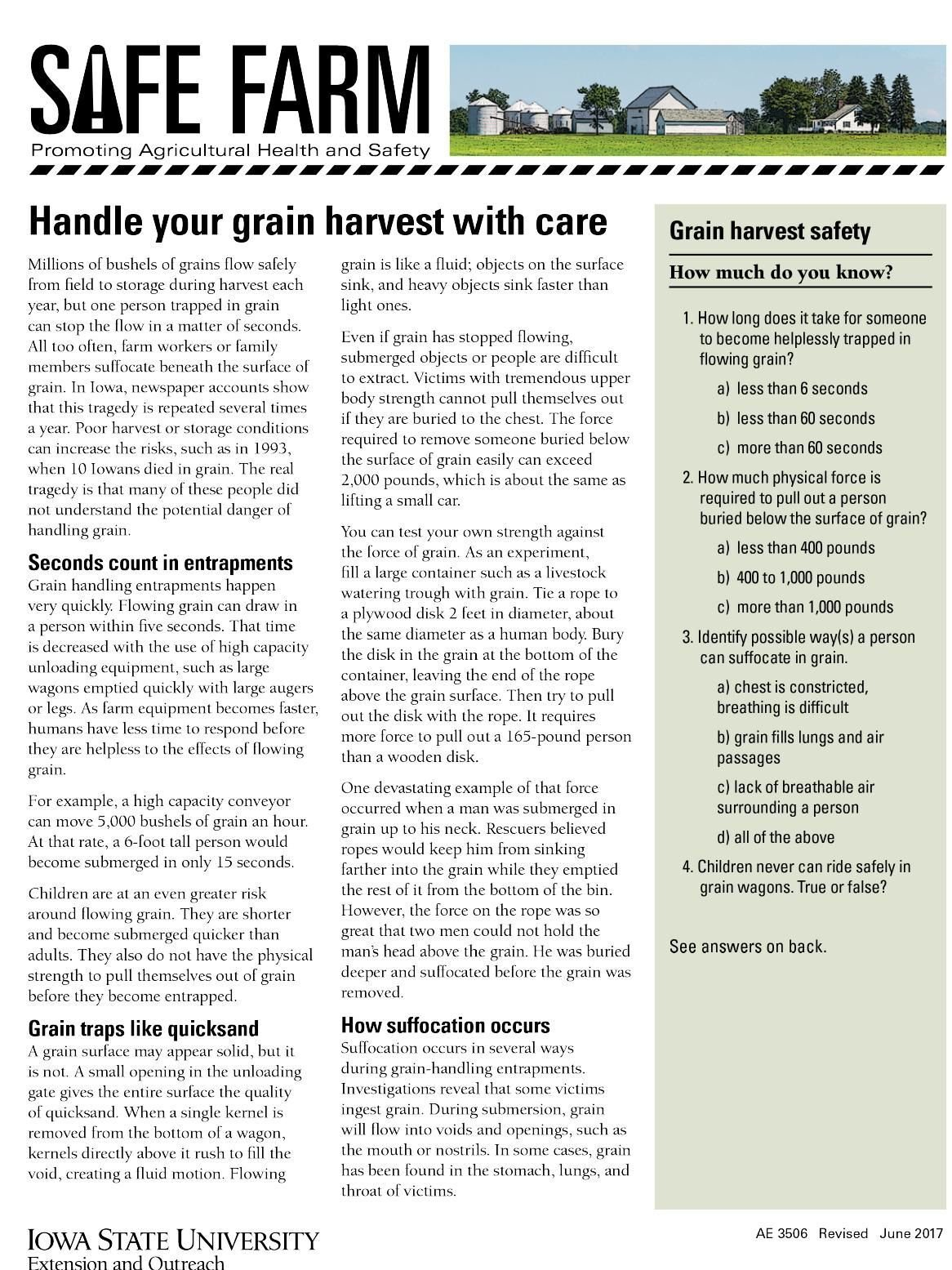 Handle grain harvest with care part 1