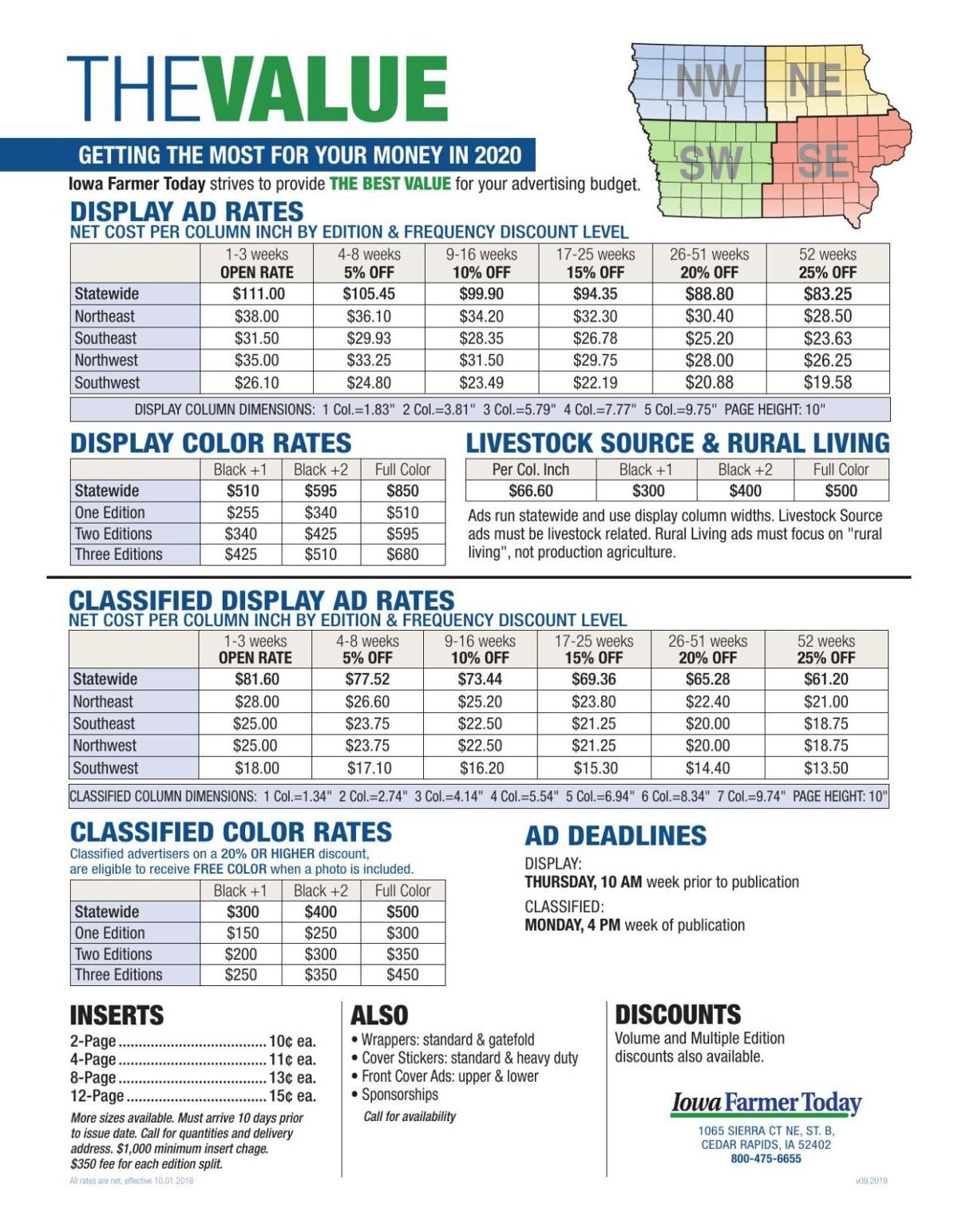 Display & Classified Rates
