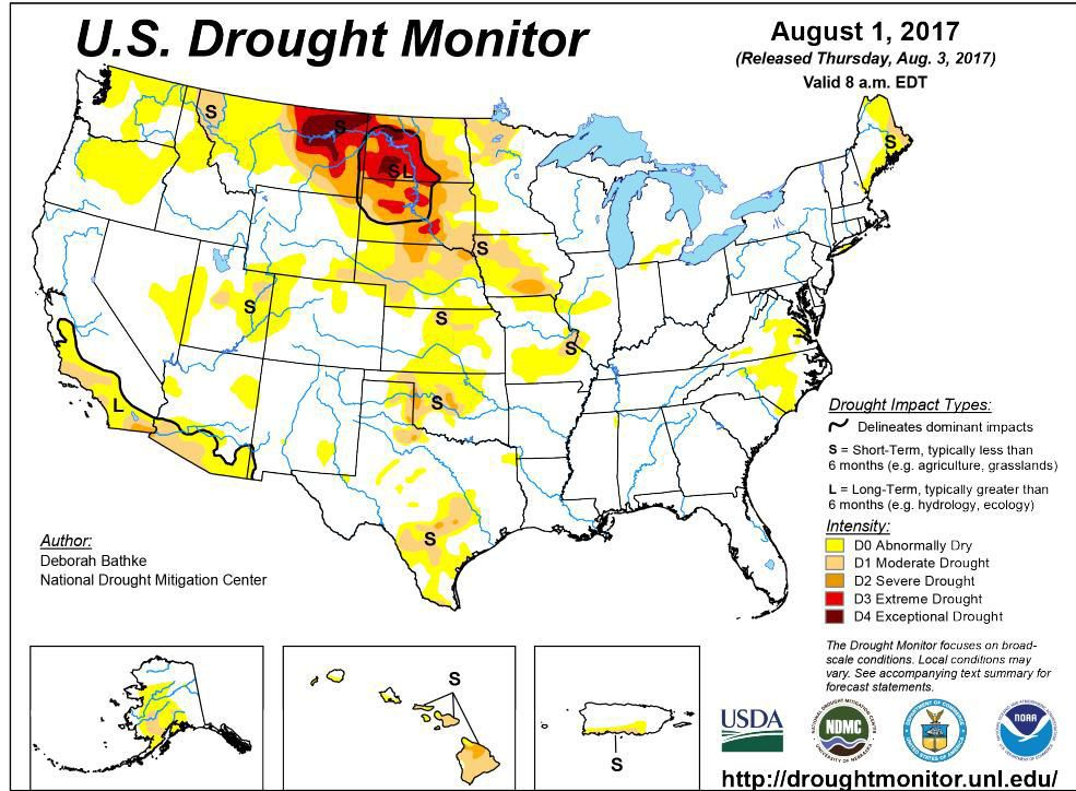 US Drought Monitor AgriView AgriView