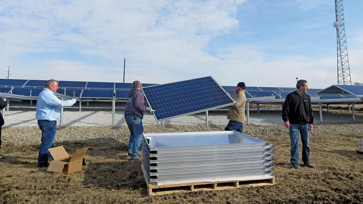 Platte-Clay Electric Cooperative install solar panels