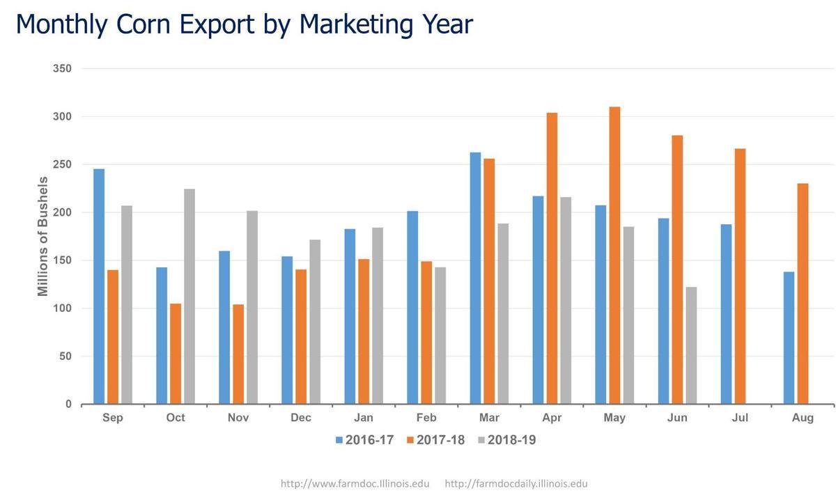 Monthly Corn Export