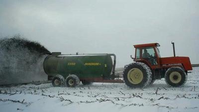 Applying winter manure