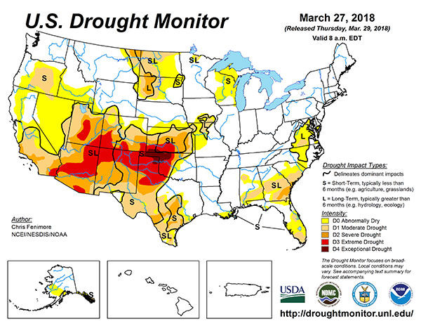 Us Drought Monitor Map 32718 Weather Agupdatecom - Drought-map-us