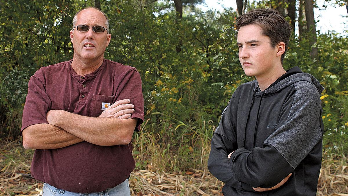 Jerry Miller and his son, Brockton