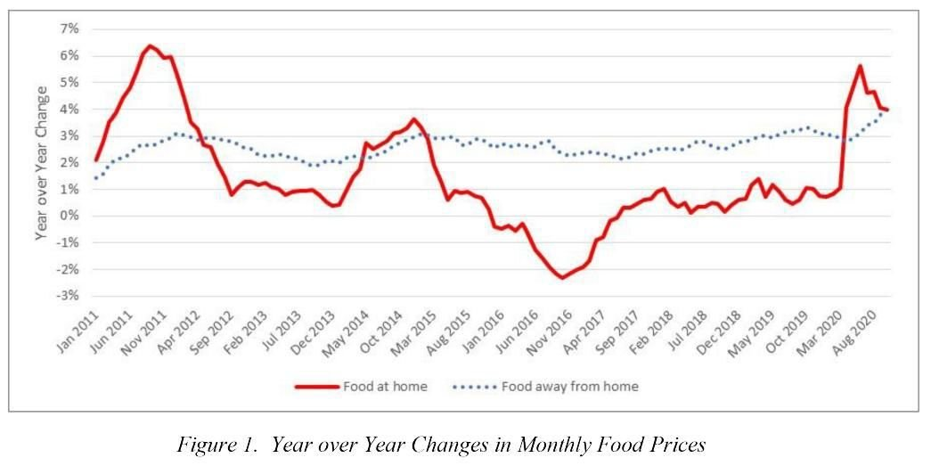 Year over Year Changes in Food Prices