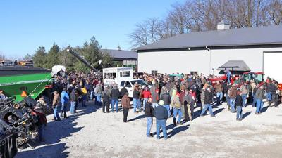 Schmid farm auction in Clinton, Illinois