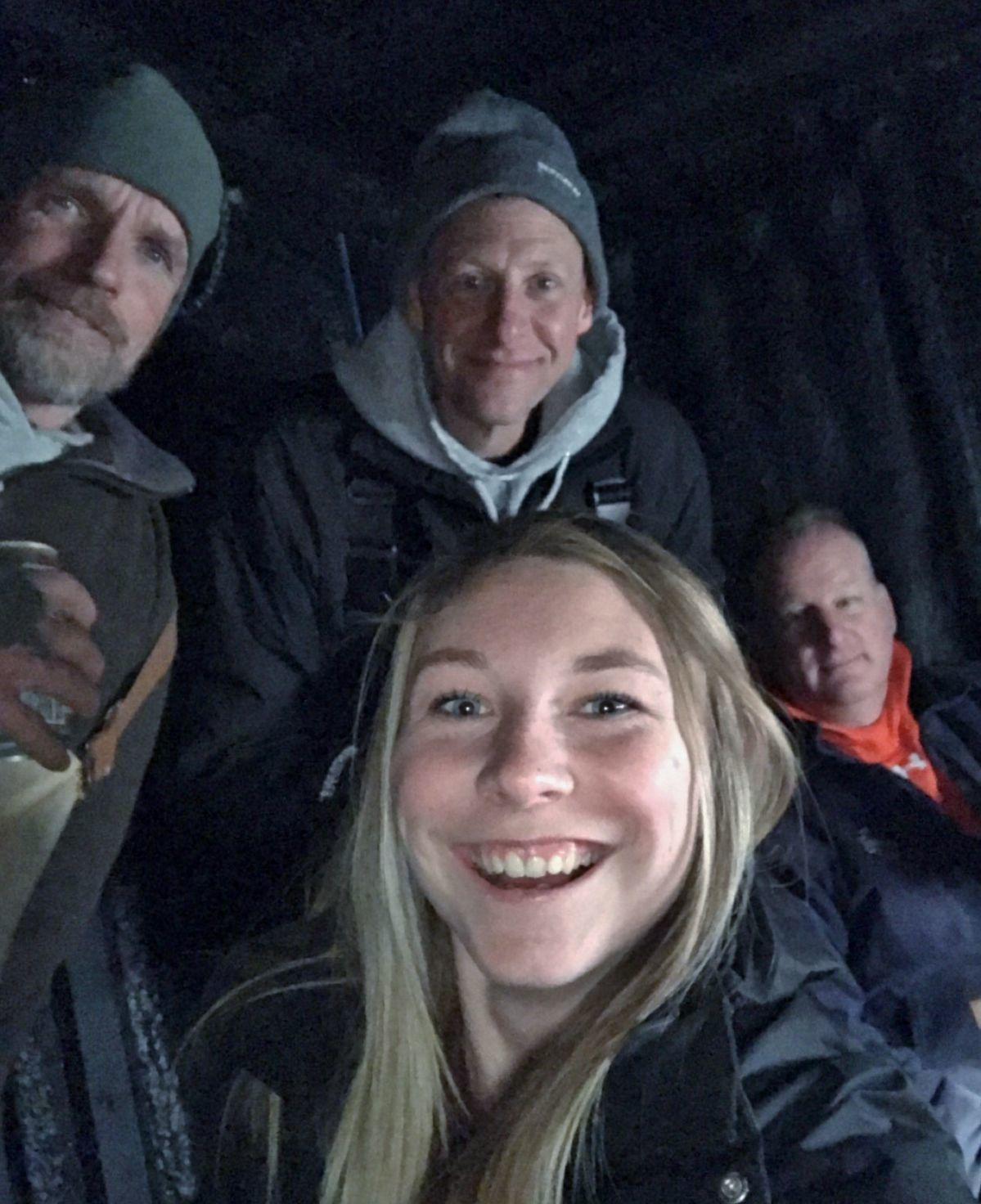 Selfie in shack