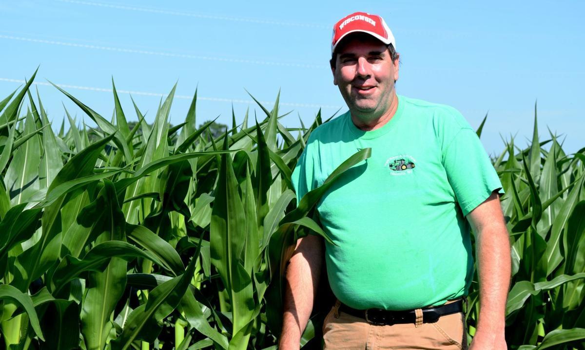 Doug Rebout and corn field