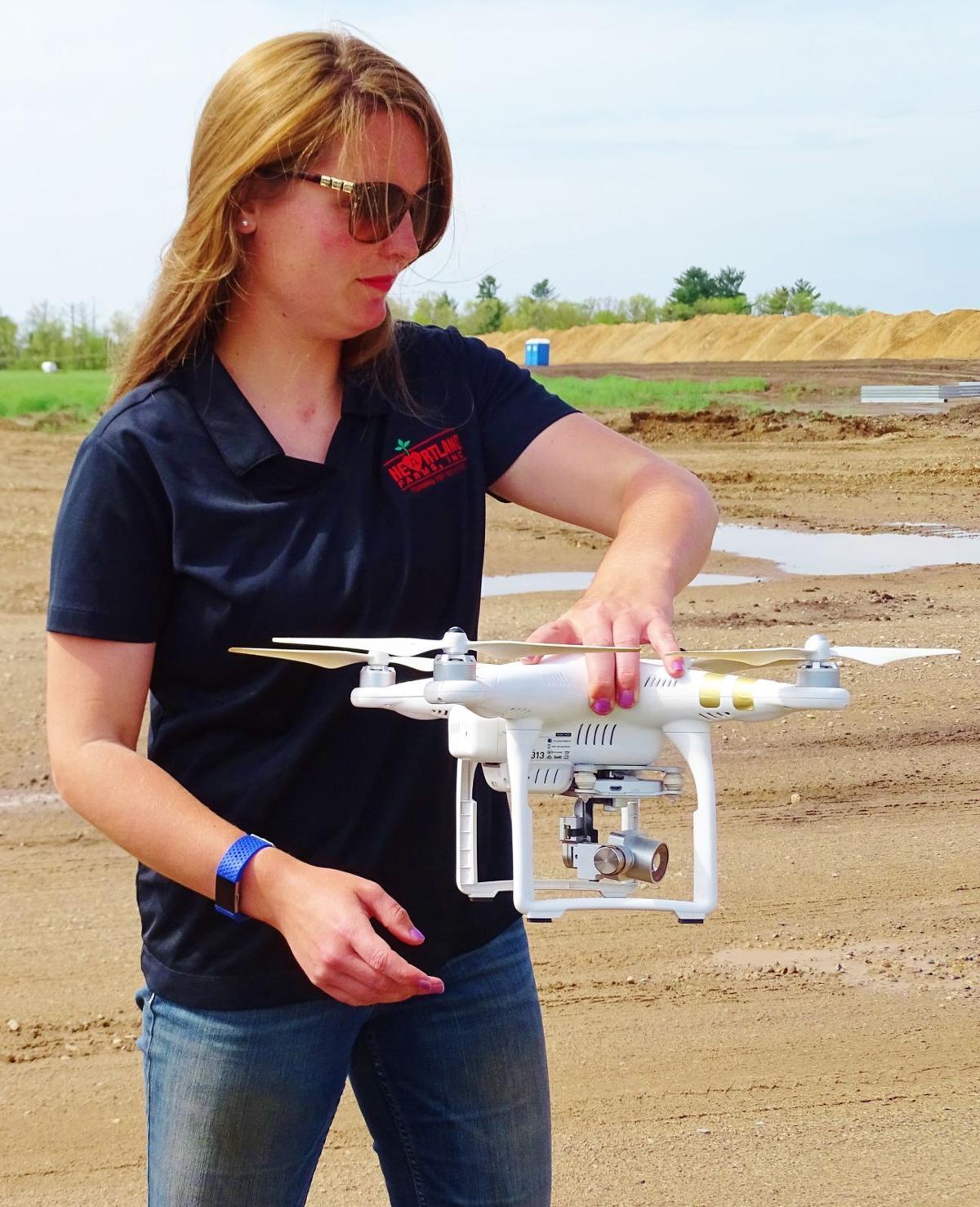Lynn Leahy with UAV drone