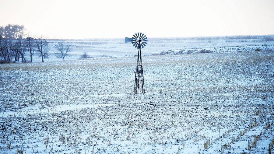 Winter Wind Mills County
