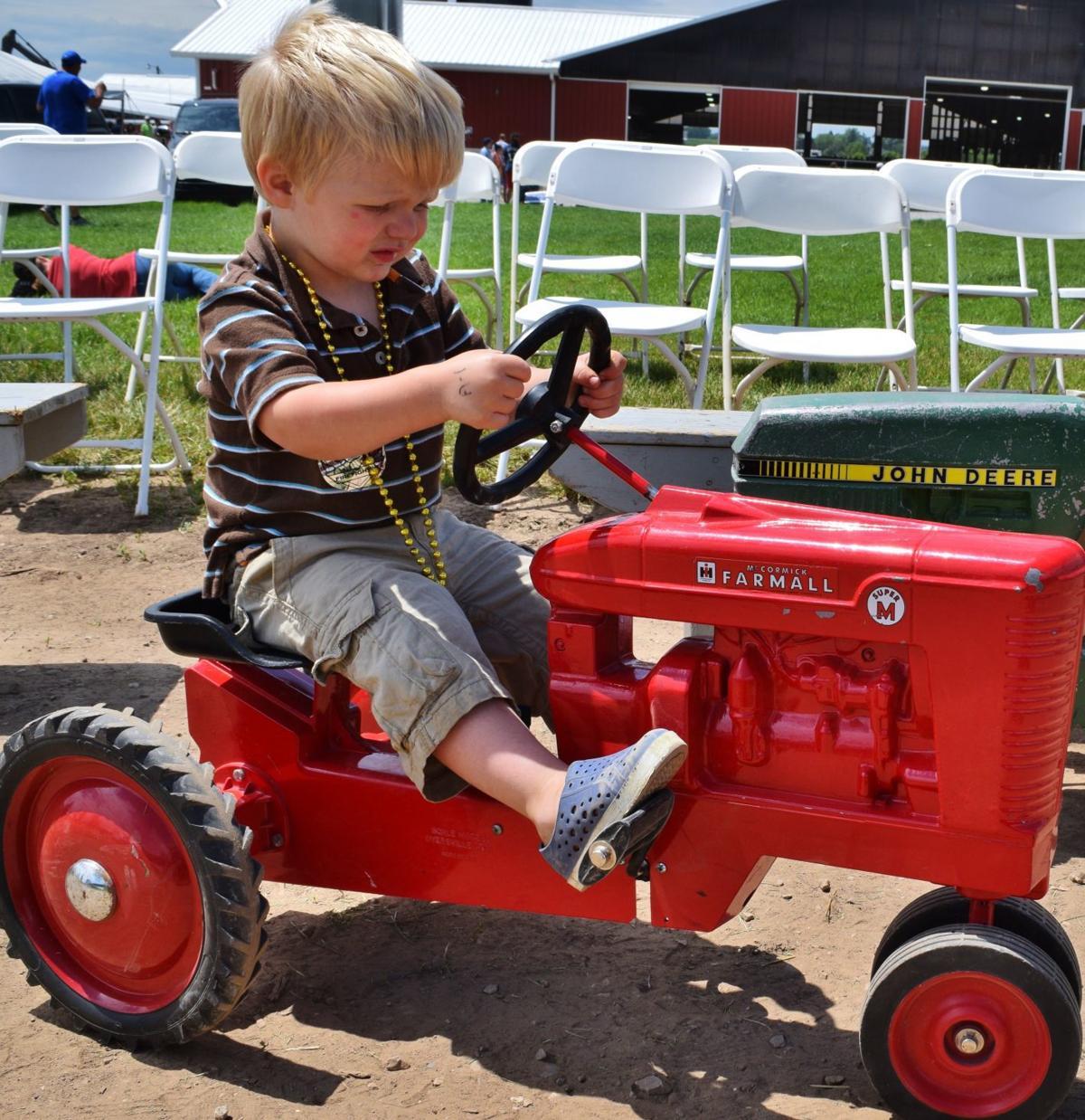 Tucker Jansen on tractor