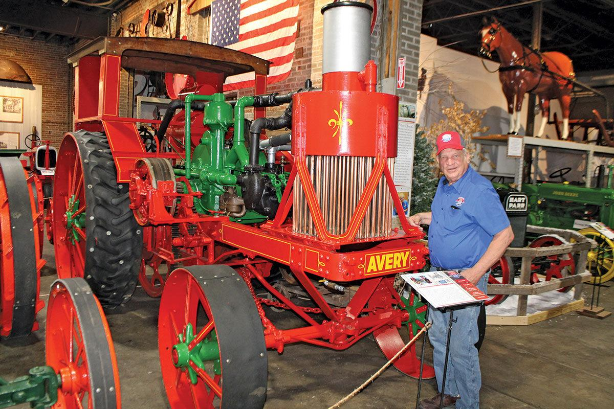 Kenny Buchheit has some large Avery tractors