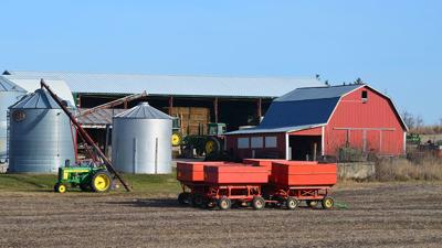 Generic farm buildings and tractors