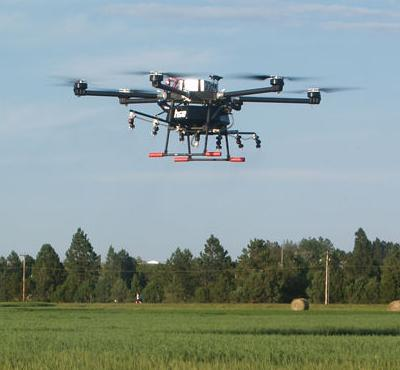 Herbicide-spraying UAV flies over fields at HREC | Technology