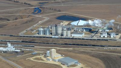 Shell Rock ethanol plant from air