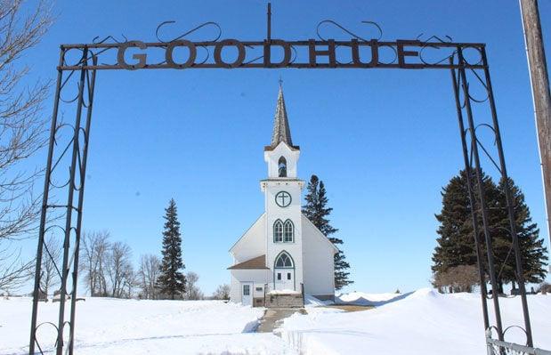 Goodhue church snow