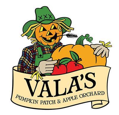 Vala's pumpkin patch logo