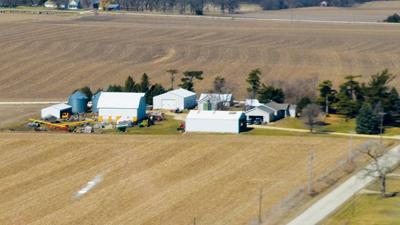 Illinois farm scene