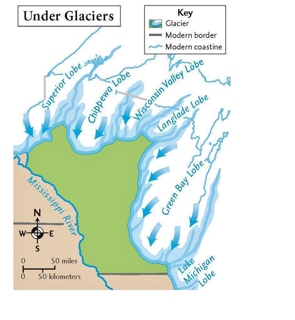Wisconsin Glacier Map