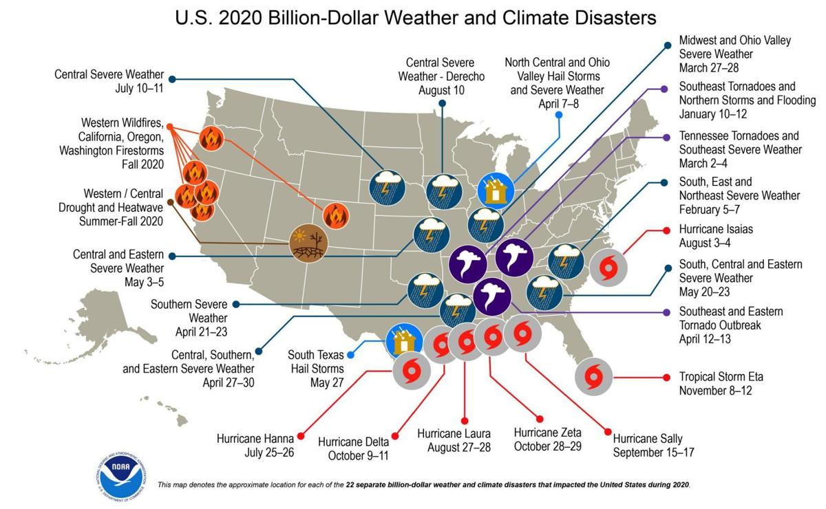 2020 weather and climate disasters