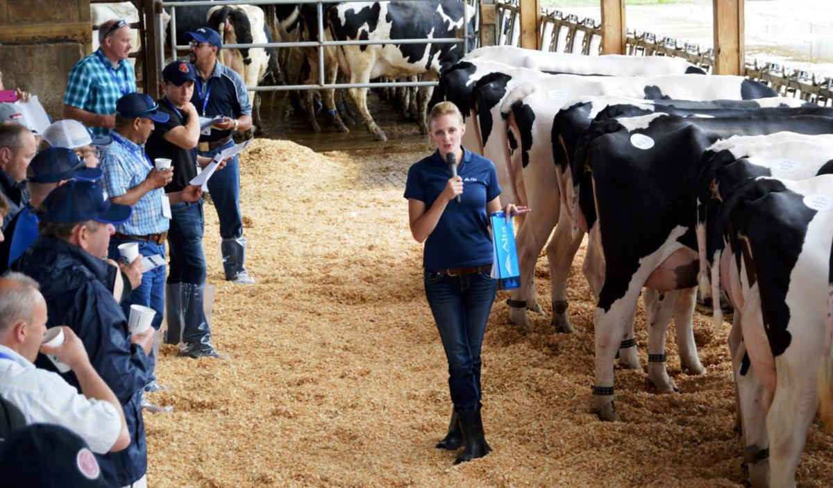 Chrissy Meyer speaks at dairy program
