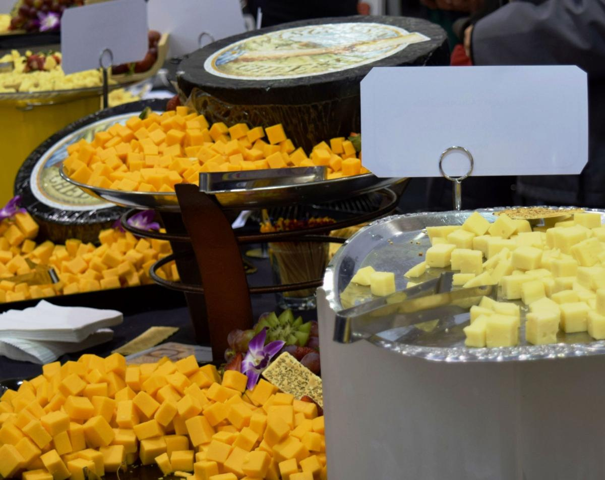 Cheese appetizer table