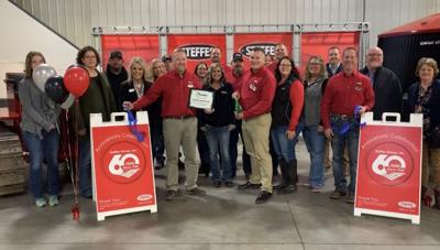 Steffes Ribbon Cutting in Litchfield, Minn. for 60 years in business