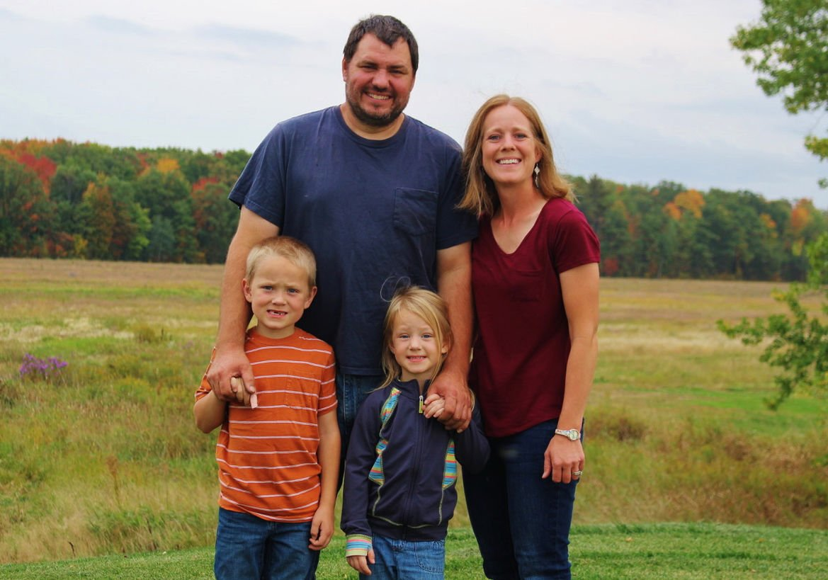 John and Melissa Eron and children