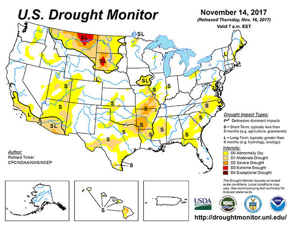 US Drought Monitor Map State Regional Agupdatecom - Drought map in us
