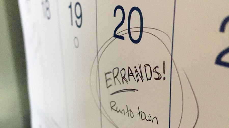 Errands calendar