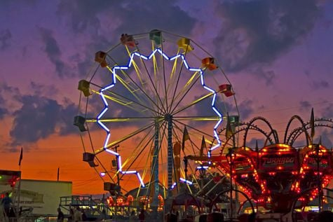Ferris Wheel at night -- Grant County Fair