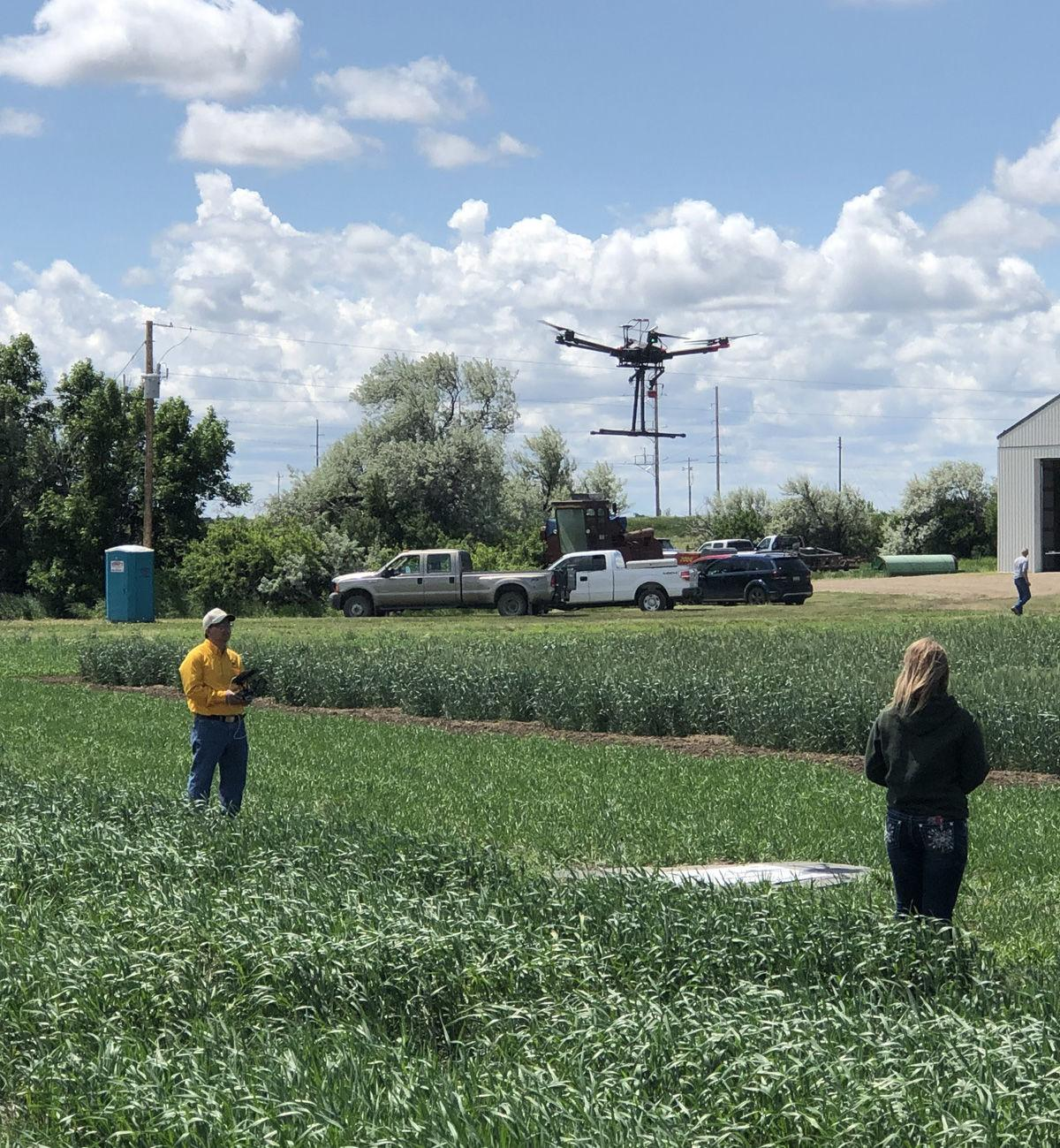 UAV collects crop data