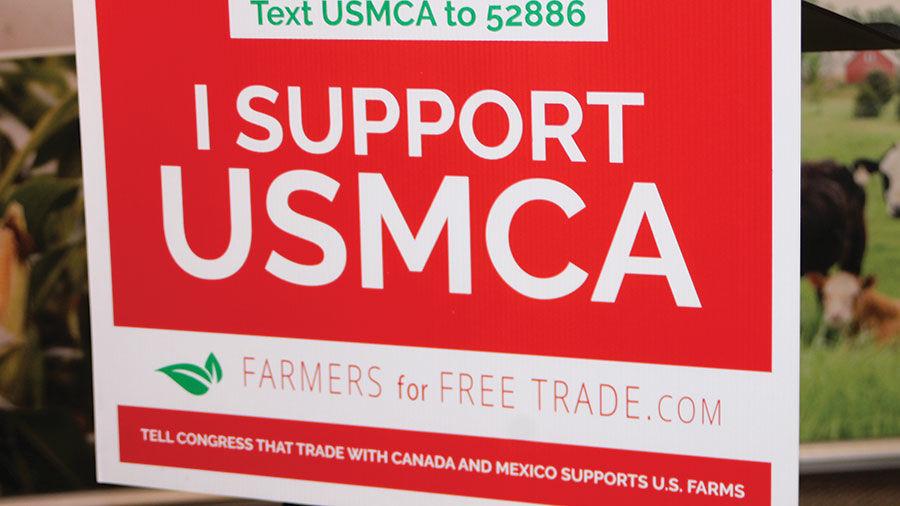 USMCA support sign