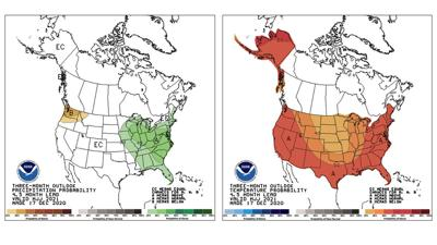 Precipitation and temperature maps for May, June and July of 2021