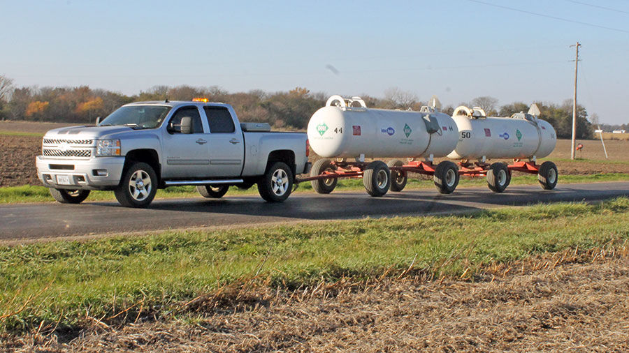 anhydrous ammonia in transit