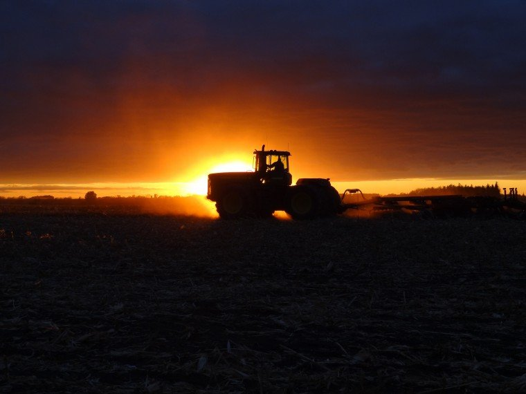 Farming into the Sunset