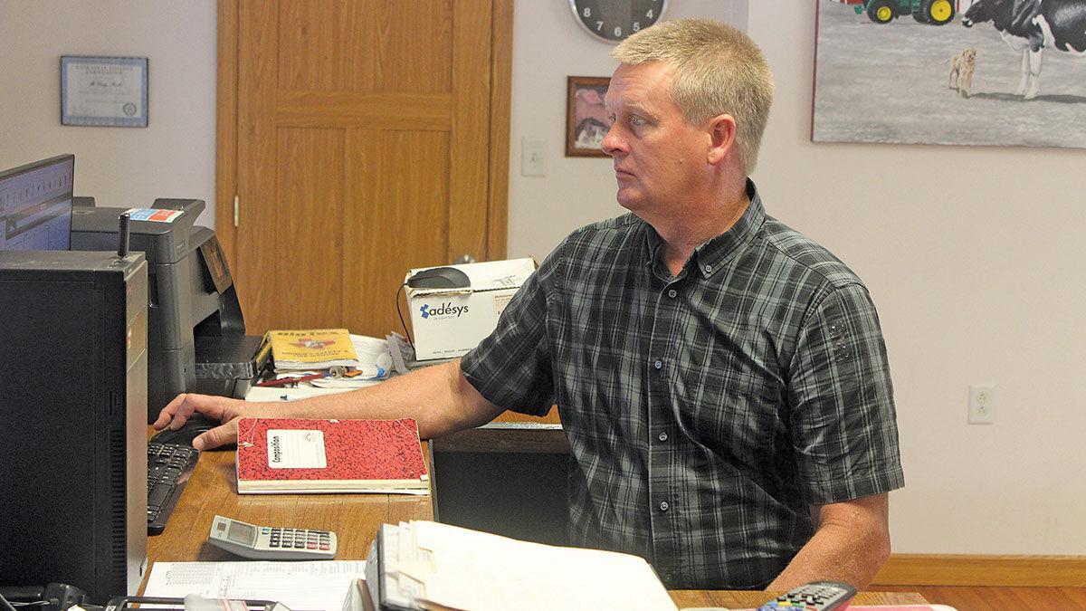 Craig Finke at desk