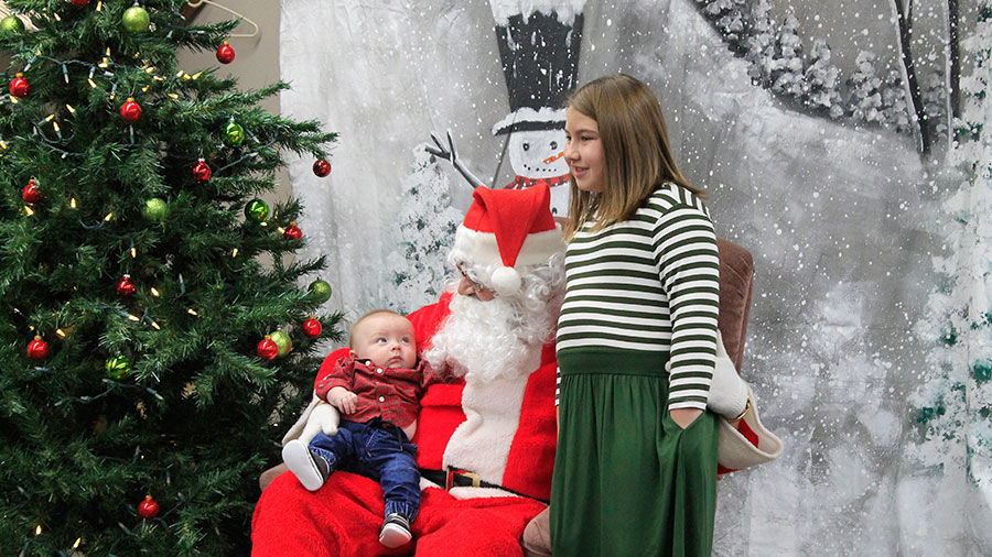 Chase and Isabelle Hora with Santa