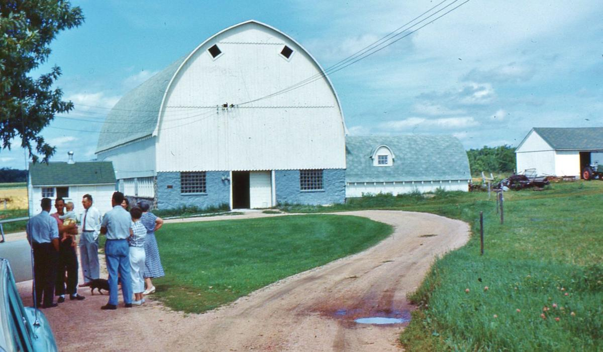 Family gathers on farm