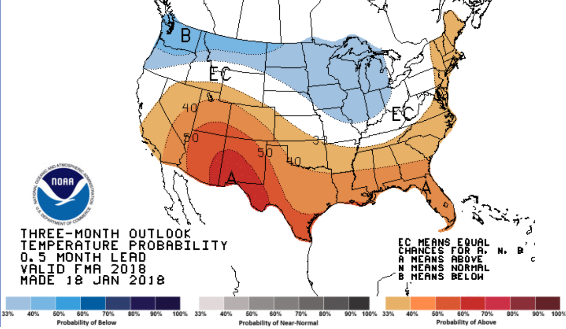 Feb-April Temp Outlook