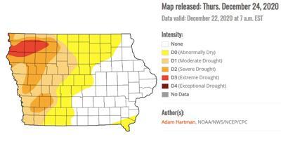 IA Drought map
