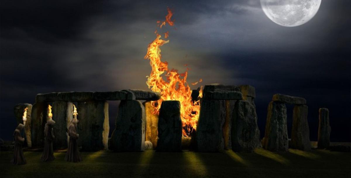 Bonfire at Stonehenge