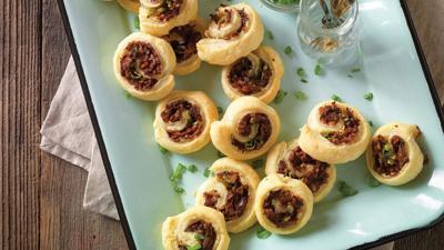 Flaky Beef-Stuffed Pinwheels