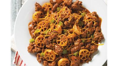 Chuckwagon Beef and Pasta Skillet