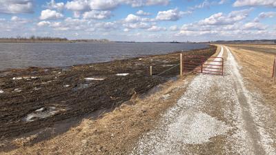 Flood levee and field repair
