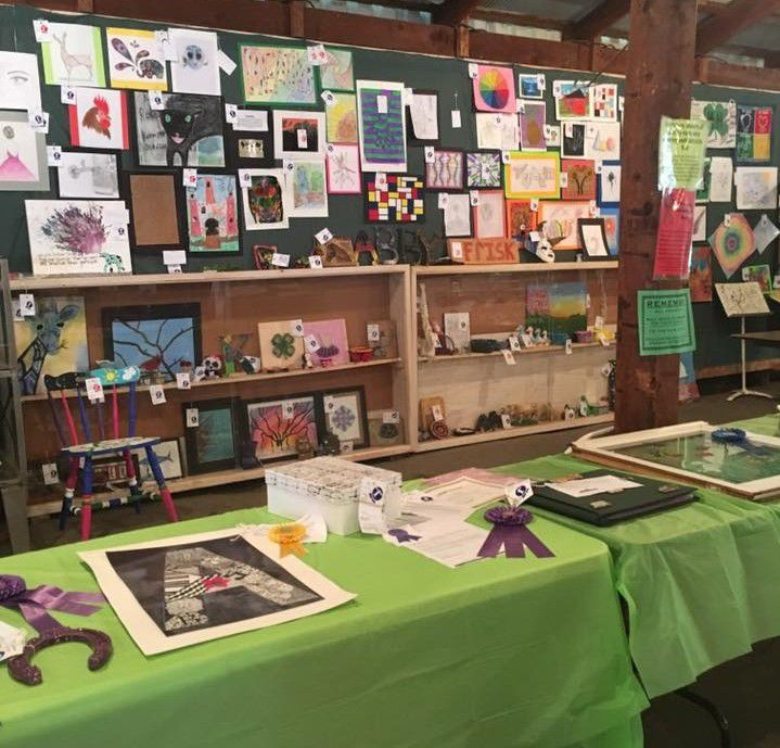 Arts and Crafts display -- Juneau County Fair