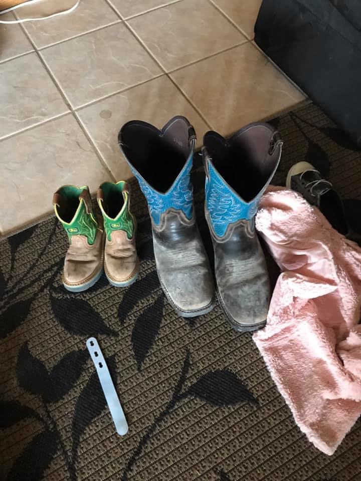 Ben and Erma Storms' boots